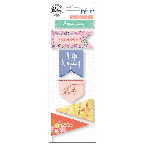 Pinkfresh Studio - Joyful Day Collection - Fabric Stickers - Banners