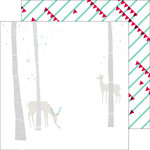 Pinkfresh Studio - Christmas Wishes Collection - 12 x 12 Double Sided Paper - Oh Deer