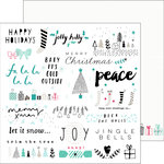 Pinkfresh Studio - Christmas Wishes Collection - 12 x 12 Double Sided Paper - Jolly Holly