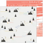 Pinkfresh Studio - Escape the Ordinary Collection - 12 x 12 Double Sided Paper - Discover