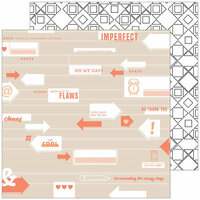 Pinkfresh Studio - A Case of the Blahs Collection - 12 x 12 Double Sided Paper - Imperfect