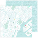 Pinkfresh Studio - Out and About Collection - 12 x 12 Double Sided Paper - Scenic Route