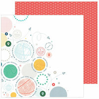 Pinkfresh Studio - Out and About Collection - 12 x 12 Double Sided Paper - Explore