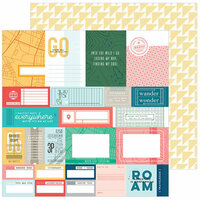 Pinkfresh Studio - Out and About Collection - 12 x 12 Double Sided Paper - Bucket List