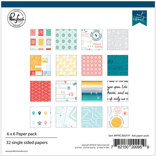 Pinkfresh Studio - Out and About Collection - 6 x 6 Paper Pack