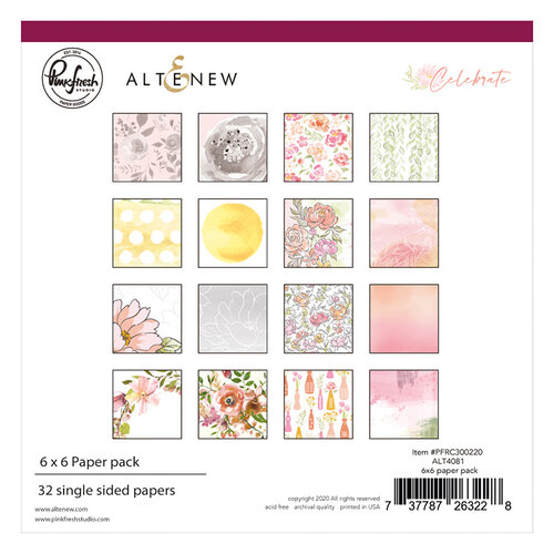 Pinkfresh Studio - Celebrate Collection - 6 x 6 Paper Pack