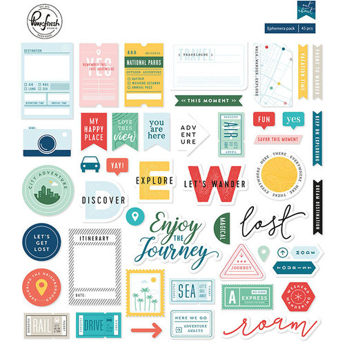 Pinkfresh Studio - Out and About Collection - Ephemera Pack