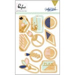 Pinkfresh Studio - Indigo Hills Collection - Wood Clips with Foil Accents