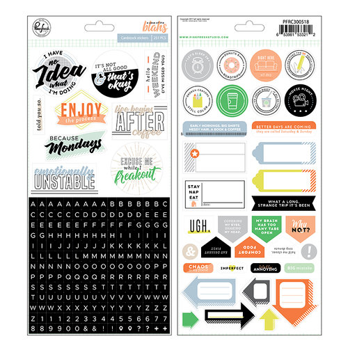 Pinkfresh Studio - A Case of the Blahs Collection - Cardstock Stickers