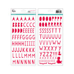 Pinkfresh Studio - Christmas Wishes Collection - Puffy Alphabet Stickers - Red