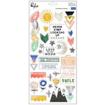 Pinkfresh Studio - Escape the Ordinary Collection - Chipboard Stickers