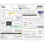 Pinkfresh Studio - Escape the Ordinary Collection - Cardstock Stickers - Phrases