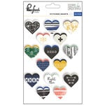Pinkfresh Studio - Escape the Ordinary Collection - Cardstock Stickers - Stitched Heart