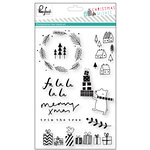 Pinkfresh Studio - Christmas Wishes Collection - Clear Acrylic Stamp Set