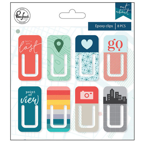 Pinkfresh Studio - Out and About Collection - Epoxy Clips