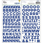 Pinkfresh Studio - Indigo Hills Collection - Puffy Stickers - Alphabet