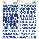 Pinkfresh Studio - Indigo Hills Collection - Puffy Stickers - Alphabet