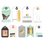 Pinkfresh Studio - Escape the Ordinary Collection - Layered Tags with Foil Accents