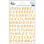 Pinkfresh Studio - Escape the Ordinary Collection - Wood Stickers with Foil Accents - Alpha