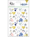 Pinkfresh Studio - Indigo Hills Collection - Chipboard Stickers - Hearts