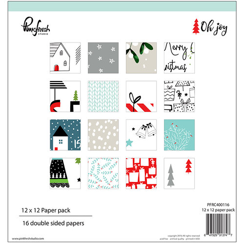 Pinkfresh Studio - Oh Joy Collection - Christmas - 12 x 12 Paper Pack
