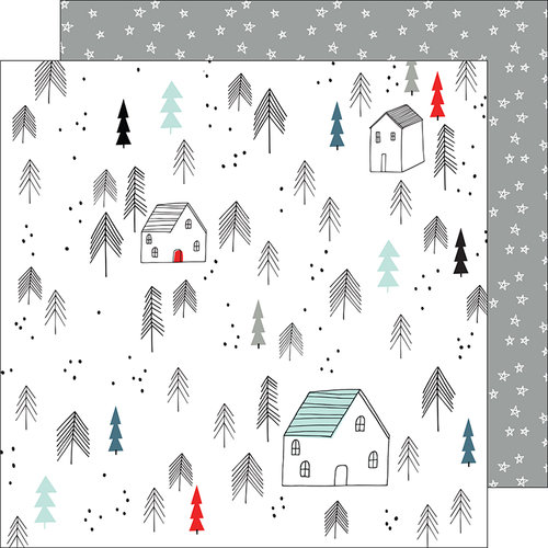 Pinkfresh Studio - Oh Joy Collection - Christmas - 12 x 12 Double Sided Paper - Winter Wonderland