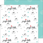 Pinkfresh Studio - Oh Joy Collection - Christmas - 12 x 12 Double Sided Paper - Jingle Bells