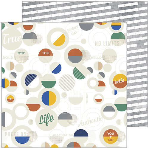 Pinkfresh Studio - Boys Fort Collection - 12 x 12 Double Sided Paper - Tough