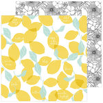 Pinkfresh Studio - Simple and Sweet Collection - 12 x 12 Double Sided Paper - Lemon Lush