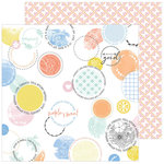 Pinkfresh Studio - Simple and Sweet Collection - 12 x 12 Double Sided Paper - Splendid