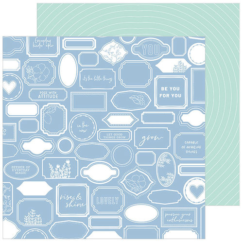 Pinkfresh Studio - Simple and Sweet Collection - 12 x 12 Double Sided Paper - Good Company