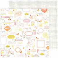 Pinkfresh Studio - Simple and Sweet Collection - 12 x 12 Double Sided Paper - Sweet Life