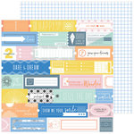 Pinkfresh Studio - Simple and Sweet Collection - 12 x 12 Double Sided Paper - Fresh Air