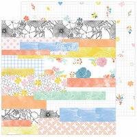 Pinkfresh Studio - Simple and Sweet Collection - 12 x 12 Double Sided Paper - Happy Life