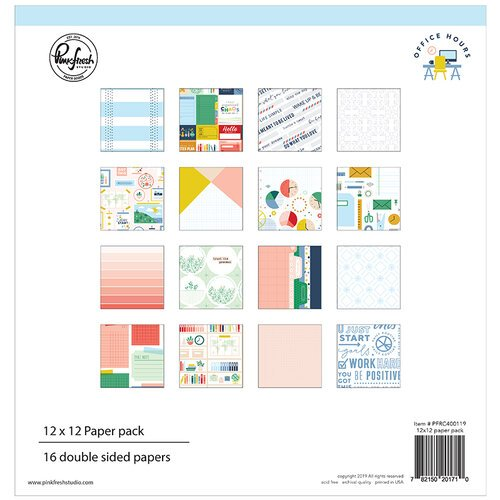 Pinkfresh Studio - Office Hours Collection - 12 x 12 Paper Pack