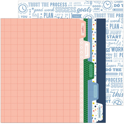 Pinkfresh Studio - Office Hours Collection - 12 x 12 Double Sided Paper - Prioritize