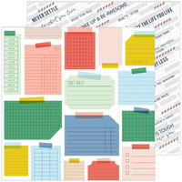 Pinkfresh Studio - Office Hours Collection - 12 x 12 Double Sided Paper - Hustle