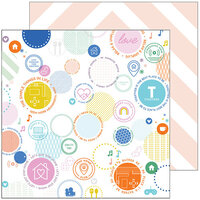 Pinkfresh Studio - Let's Stay Home Collection - 12 x 12 Double Sided Paper - Best Place to Be