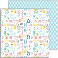 Pinkfresh Studio - Let's Stay Home Collection - 12 x 12 Double Sided Paper - Stay Home