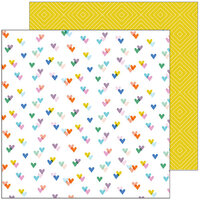 Pinkfresh Studio - Let's Stay Home Collection - 12 x 12 Double Sided Paper - Kind Hearts