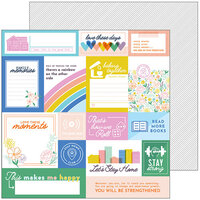 Pinkfresh Studio - Let's Stay Home Collection - 12 x 12 Double Sided Paper - Hold On