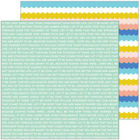 Pinkfresh Studio - Let's Stay Home Collection - 12 x 12 Double Sided Paper - You Are Stronger