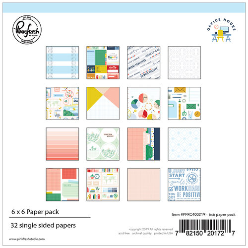Pinkfresh Studio - Office Hours Collection - 6 x 6 Paper Pack