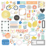 Pinkfresh Studio - Simple and Sweet Collection - Ephemera with Foil Accents