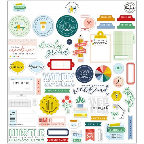 Pinkfresh Studio - Office Hours Collection - Ephemera Pack