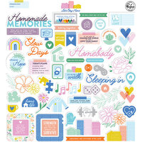 Pinkfresh Studio - Let's Stay Home Collection - Ephemera Pack