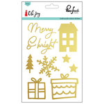 Pinkfresh Studio - Oh Joy Collection - Christmas - Acrylic Mirror Stickers