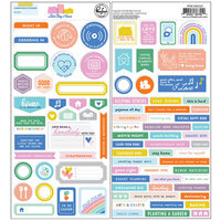 Pinkfresh Studio - Let's Stay Home Collection - Cardstock Stickers