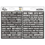 Pinkfresh Studio - Boys Fort Collection - Cardstock Stickers - Phrases