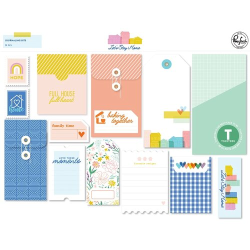 Pinkfresh Studio - Let's Stay Home Collection - Journaling Bits